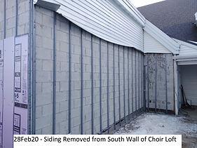 28Feb20 Old Siding Off South Wall Choir