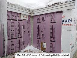 15Feb20 NE Corner Fellowship Hall Insula