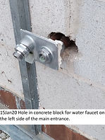 15Jan20 Expposed West Front Water Faucet