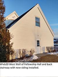 4Feb20 West Fellowship Hall Wall New Sid