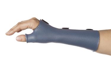 thermoplastic splint base of thumb surge