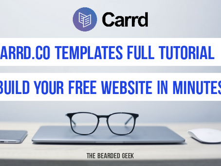 Why I want all the bloggers to know about Carrd.co | A FREE website builder that offers alot more