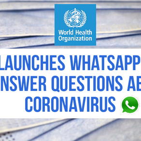 Please share! WHO launches WhatsApp chat to answer questions about Coronavirus | Join the chat now.