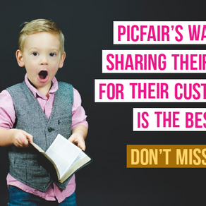 Picfair's way of sharing their love for the customers is the best!