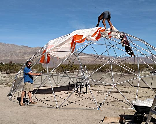 Assembling the dome