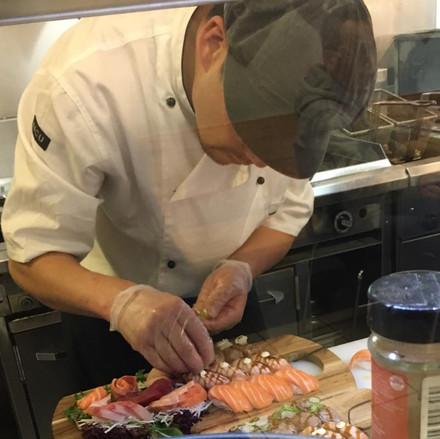 Hiro at work