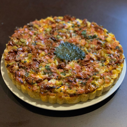 Rice Crusted Quiche