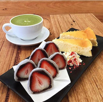 Japanese Sweets and Matcha Latte