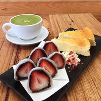 Japanese Sweets and Matcha Latte