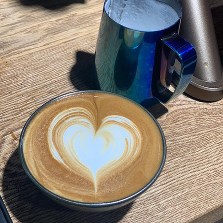 Coffee in hug mug (bowl)
