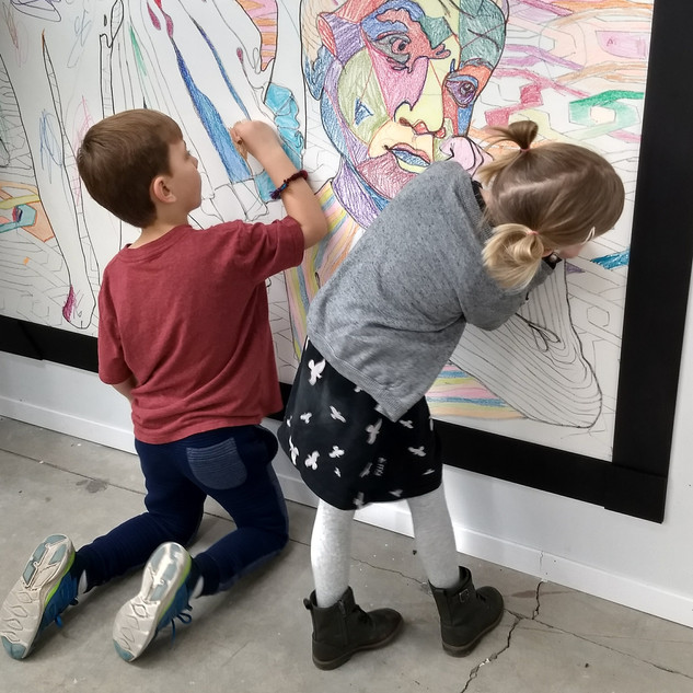Young color collaborators hard at work