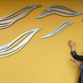 """Water Play""  Install complete! Waterjet Cut Aluminum, Kaiser Permanente Medical Center, Roseville, CA"