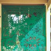 """Our Garden"" Installed, Pence Gallery courtyard, Davis, CA. Waterjet cut alluminum."