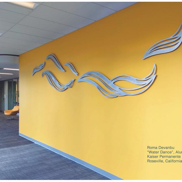 """Water Dance"" Waterjet Cut Aluminum, Kaiser Permanente Medical Center, Roseville, CA"