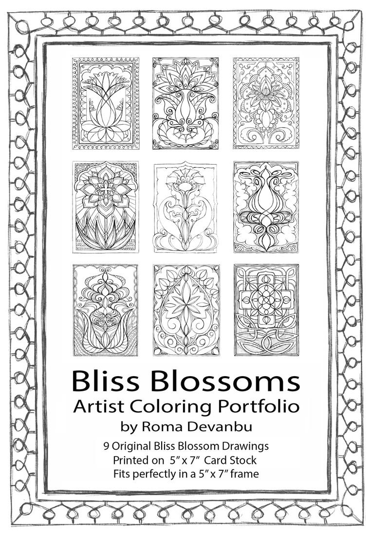 "Cover of ""Bliss Blossoms"" Portfolio"
