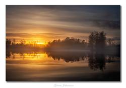 Solnedgång över Björnsjön