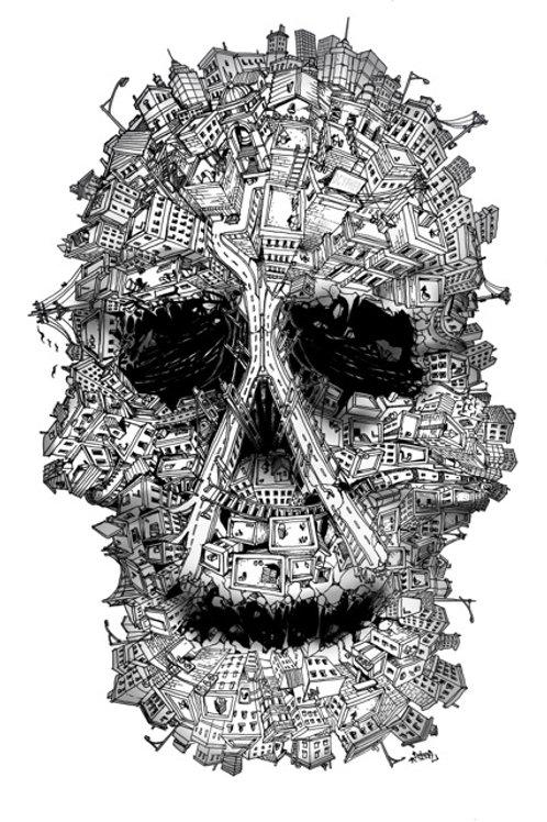 Skull City Print - Small