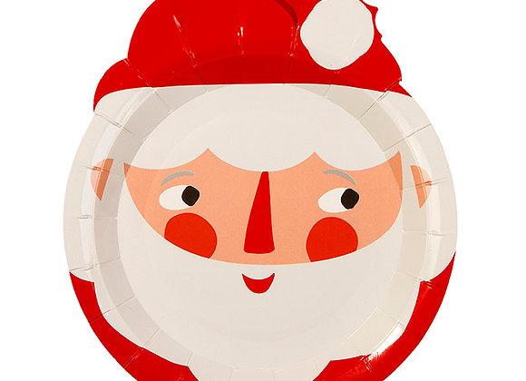 8 Platos papel Santa