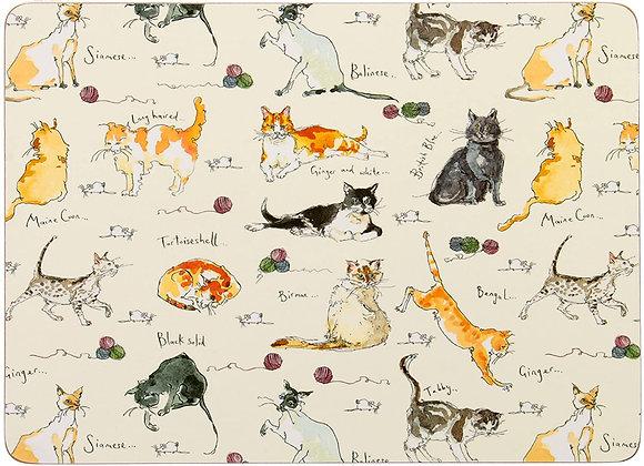 Individuales gato x 4