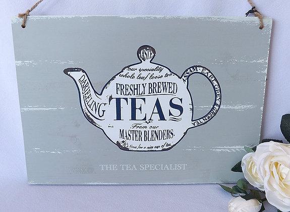 Cartel madera Teas