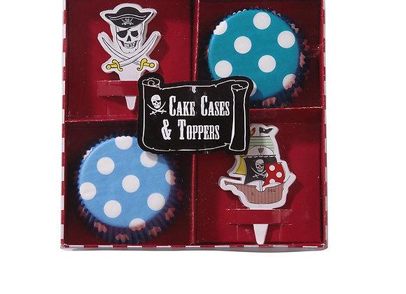Set para cupcakes de piratas