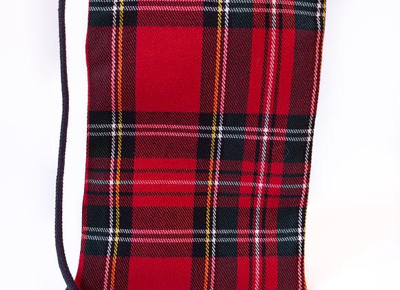 Porta Móvil Cuadros Escoceses Rojo