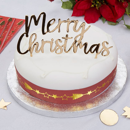 """Topper pasteles """"Merry Christmas"""""""