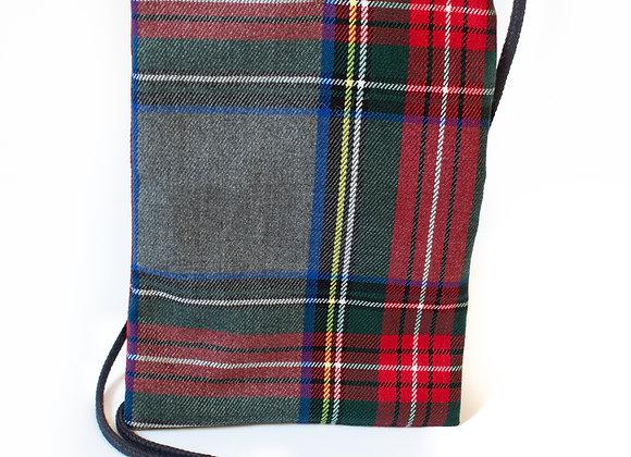 Porta Móvil Cuadros Escoceses Gris