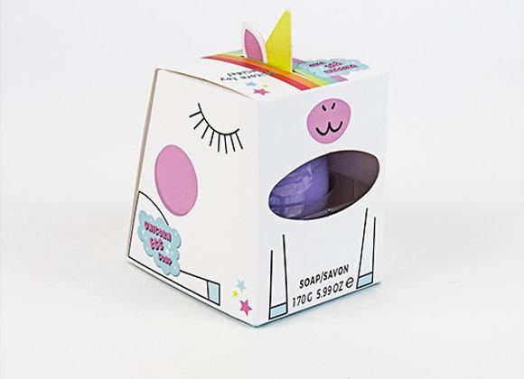 Jabón huevo unicornio