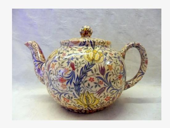 Tetera grande porcelana William Morris