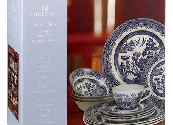 Vajilla 20 piezas Blue Willow