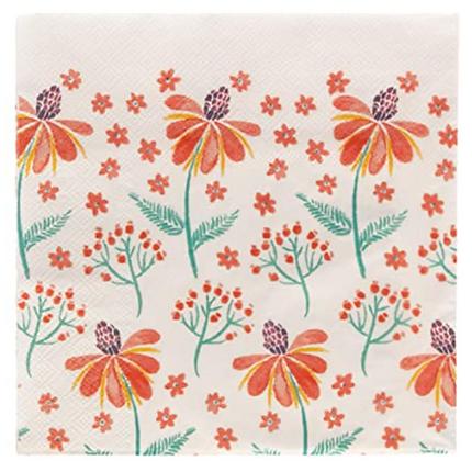 Servilletas de papel Flores Naranjas