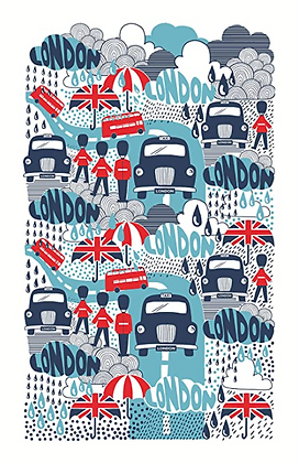Paño algodón Rainy London