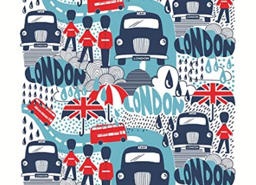 Paño algodón Rainy London