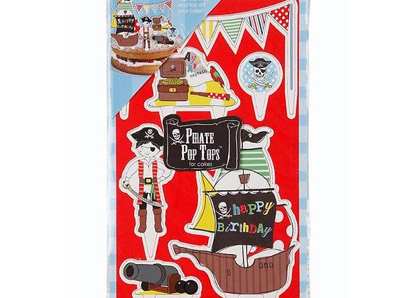 Decoración para pasteles de piratas