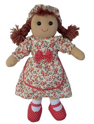 Muñeca de trapo floral