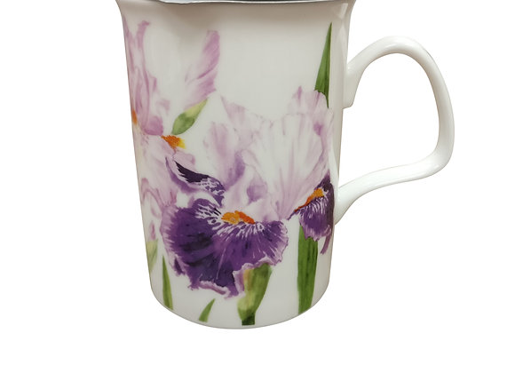 Taza con filtro y tapa Iris