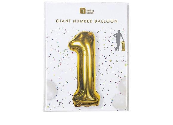 "Globo gigante Numero ""1"""