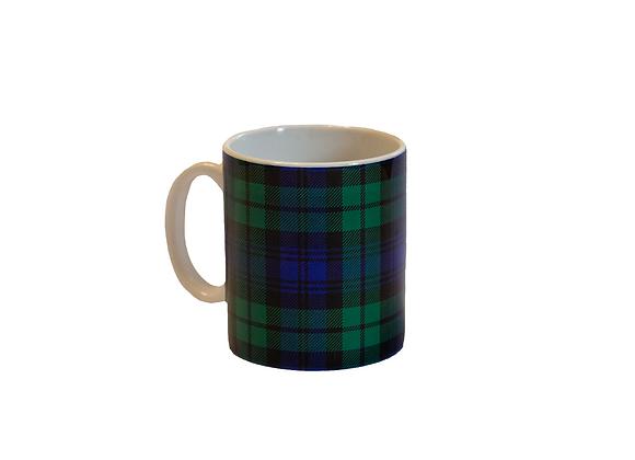 Taza Cuadros Escoceses Verde Oscuro
