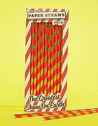 Pajillas de papel rojas