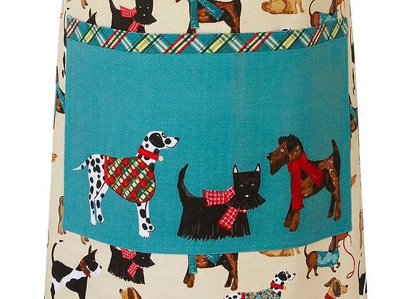 Delantal algodón perros