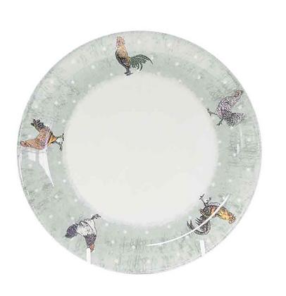 Plato grande porcelana Gallinas 26 cm