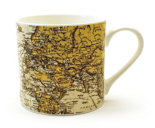 Taza porcelana Mapamundi