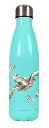Botella metálica tortuga