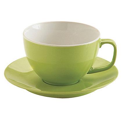 Taza con plato verde