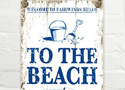 Letrero madera  To The Beach