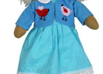 Muñeca de trapo azul