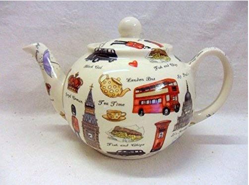 Tetera grande porcelana London