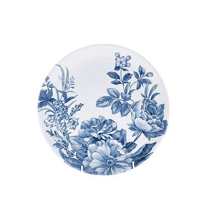 Plato postre porcelana Floral Azul