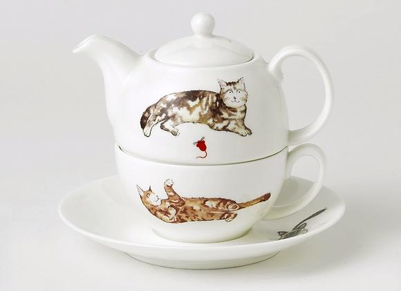 Tea for one Gatitos
